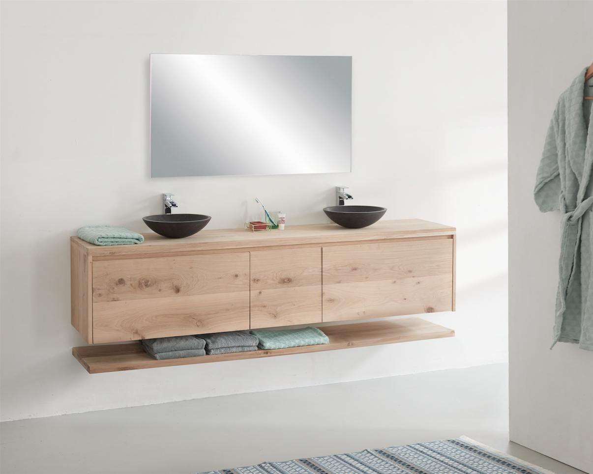 Eiken badkamermeubel maken | voordemakers.nl