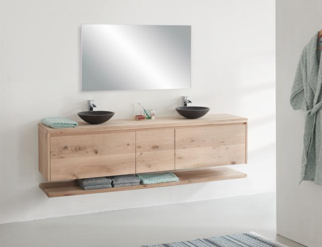 eiken badkamermeubel maken | voordemakers.nl, Wohnideen design