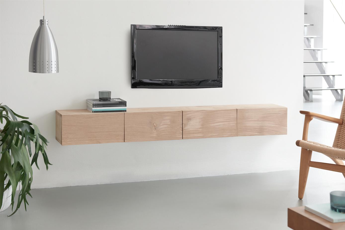 Maak een designer tv meubel van eikenhout voordemakers