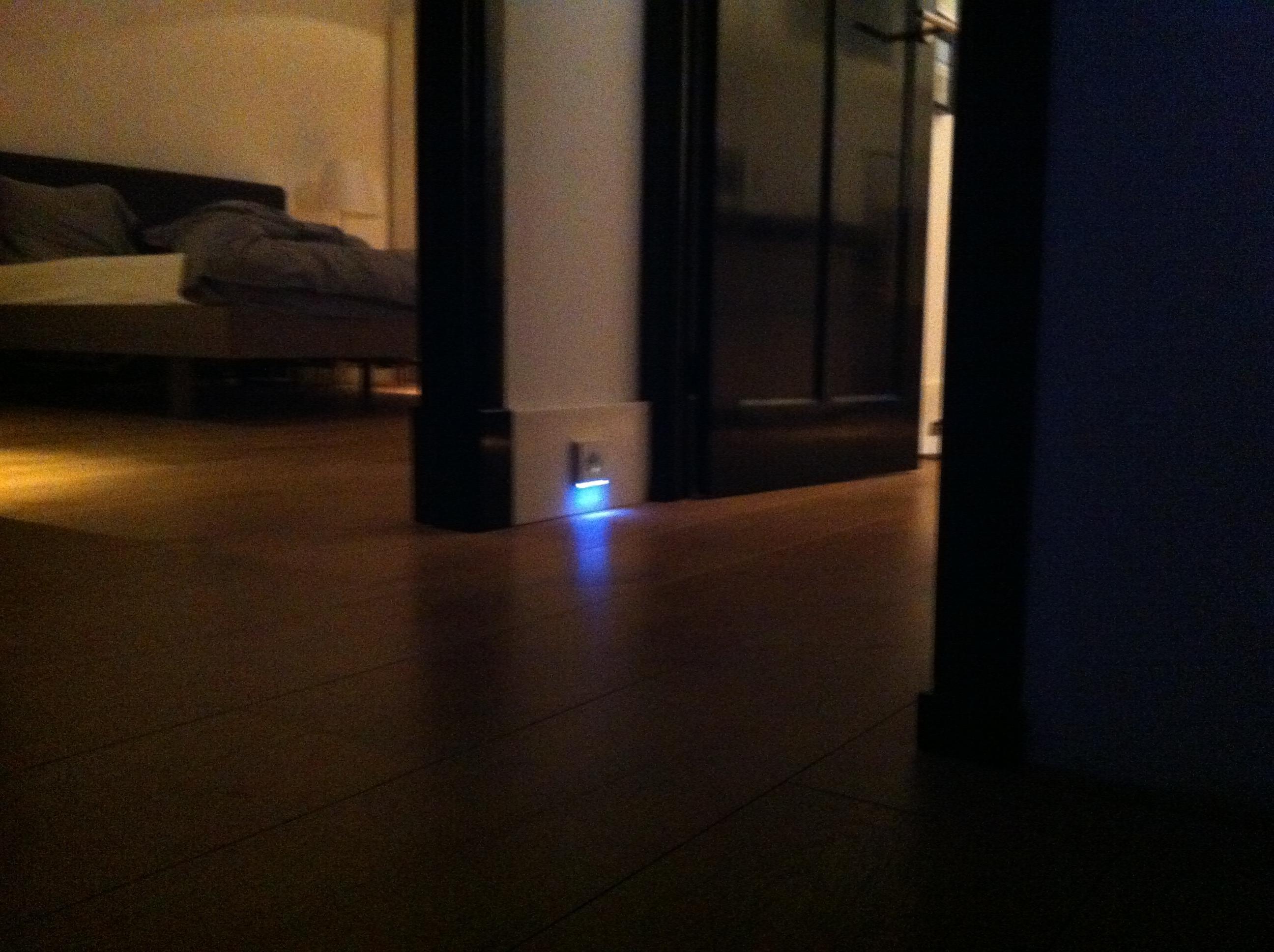 Stopcontact met led verlichting voordemakers
