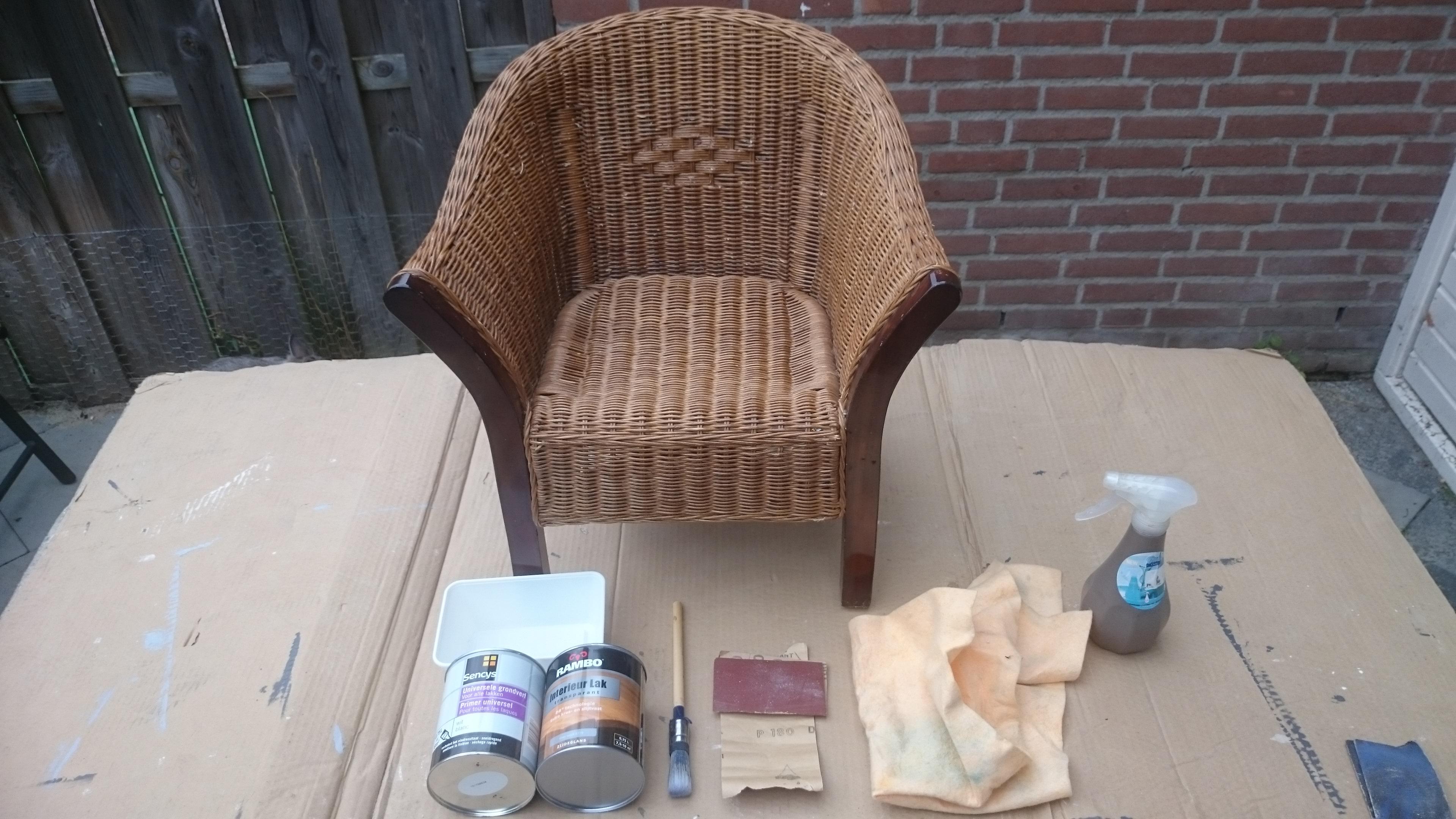 Geliefde Graywash rotan stoel | voordemakers.nl #TI57