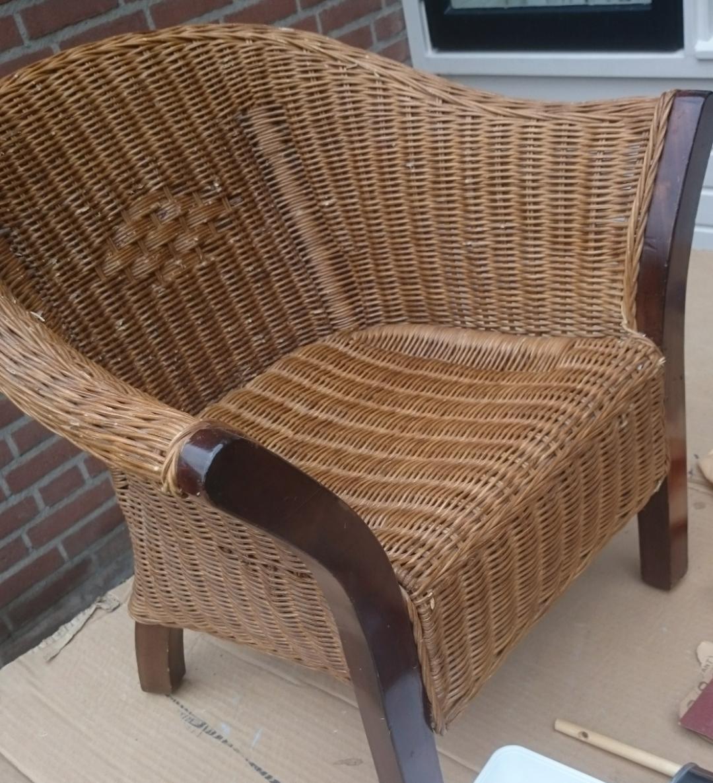 Voorkeur Graywash rotan stoel | voordemakers.nl #WR78