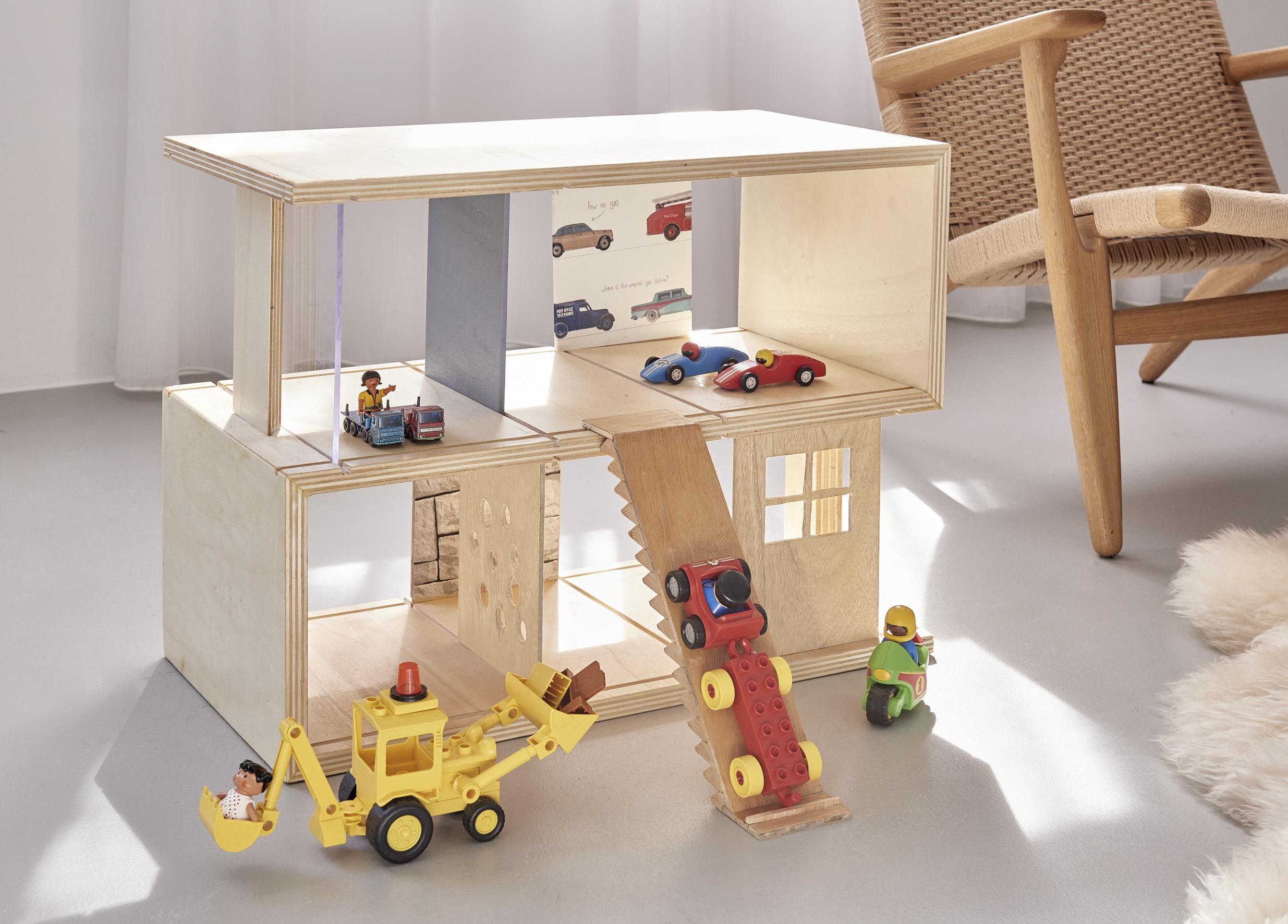 Houten Garage Speelgoed : Poppenhuis of garage maken voordemakers