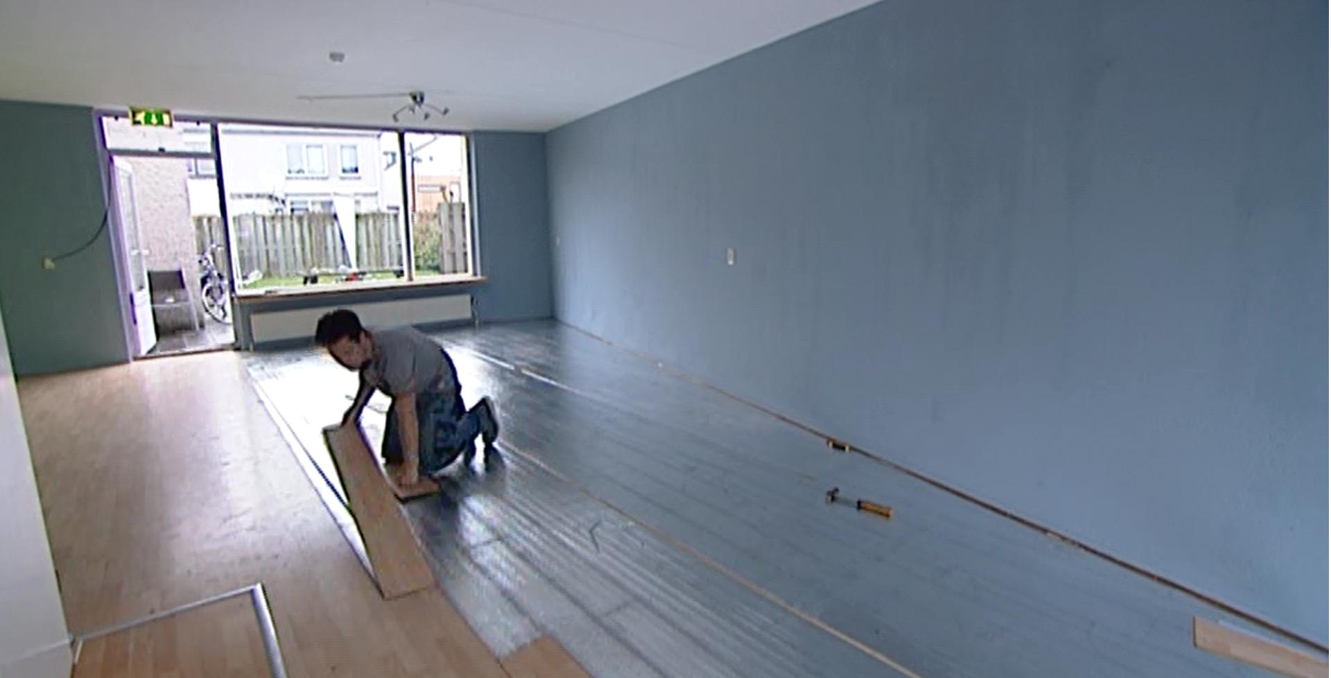 Een vinyl vloer in keuken slaapkamer of woonkamer