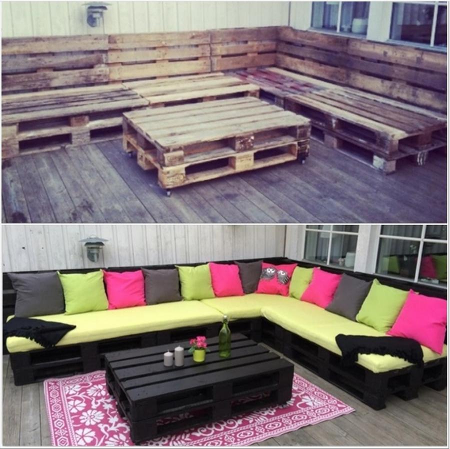 Fabulous Loungebank van pallets   voordemakers.nl AP78