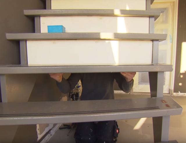 Populair Trap dichtmaken met kastje eronder | voordemakers.nl IO52