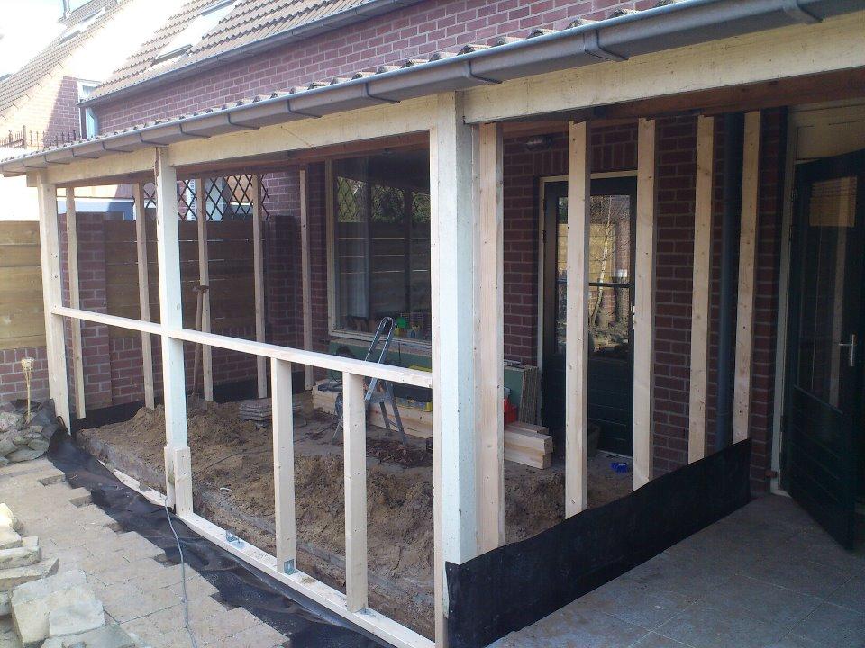 Populair Veranda bouwen in de tuin | voordemakers.nl UV19