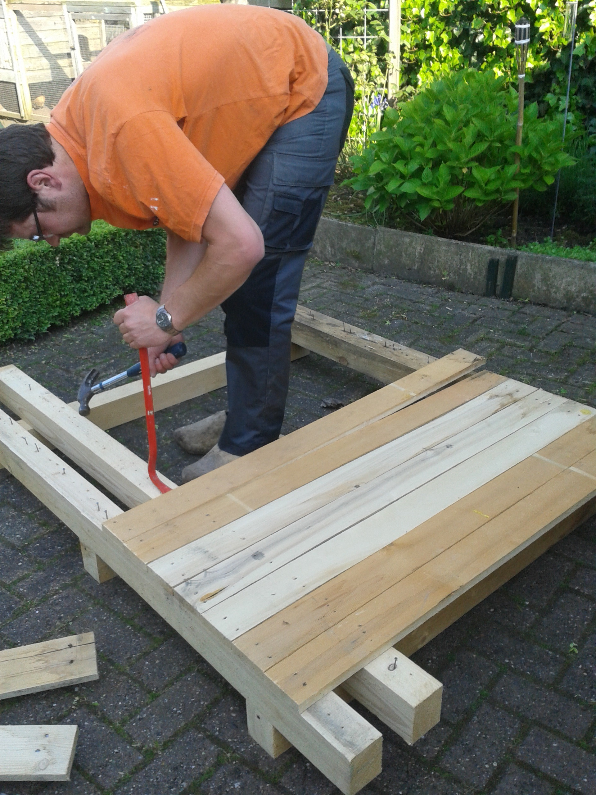 Beroemd Tuinset van oude pallets   voordemakers.nl YL56