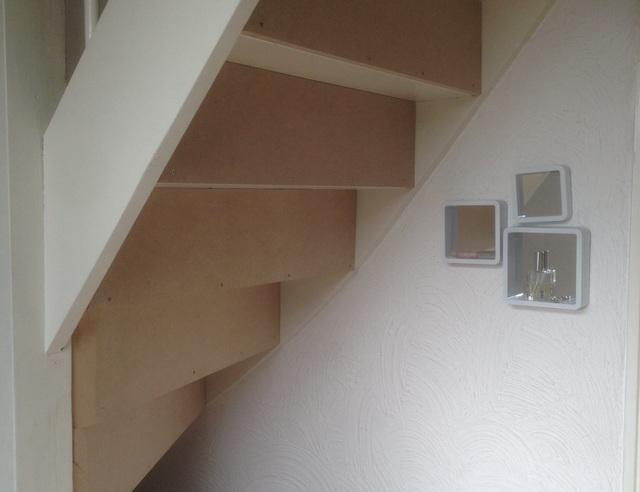 Magnifiek Trap dichtmaken met kastje eronder | voordemakers.nl #FH13