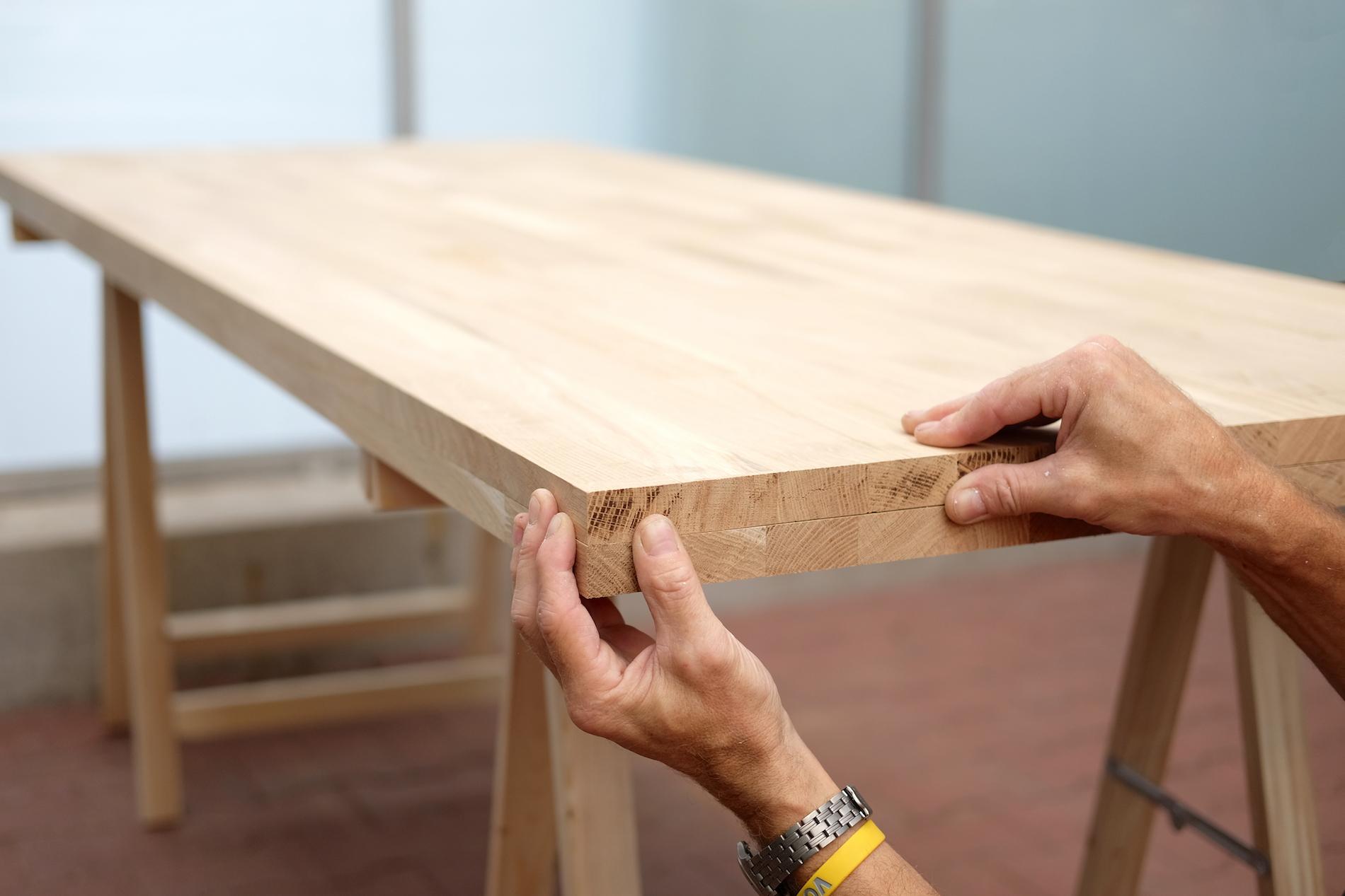 Genoeg industriele tafel maken tj95 for Tafelblad maken