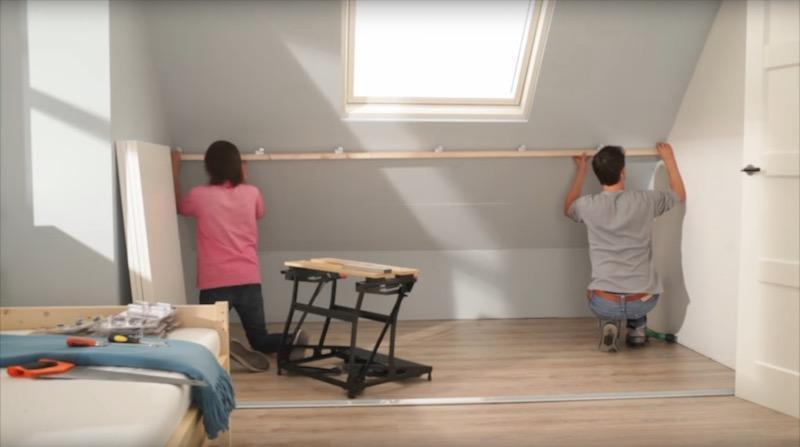 Schuine Kast Zolder : Ikea schuine wand kast