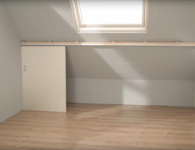 Schuifdeuren Voor Een Opbergruimte Op Zolder Voordemakersnl