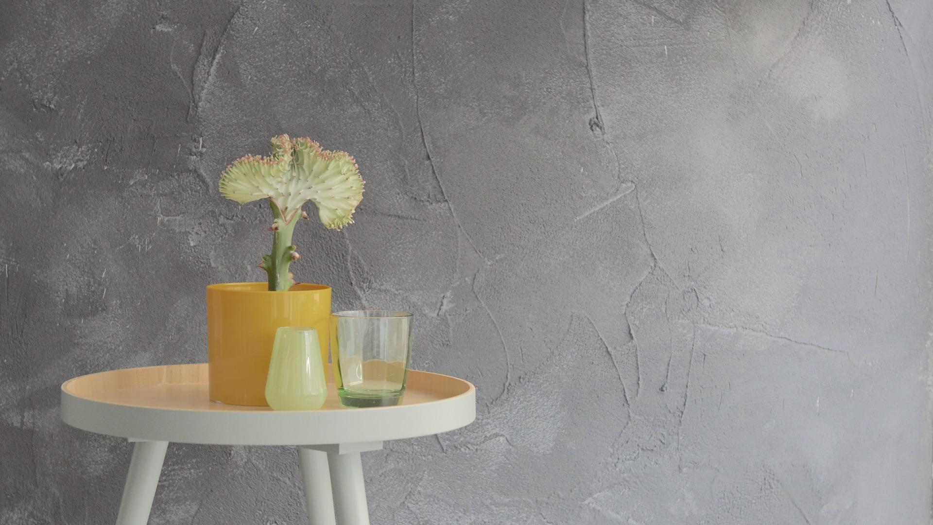 Betonlook muur woonkamer zo creeer je gemakkelijk een for Betonlook verf praxis