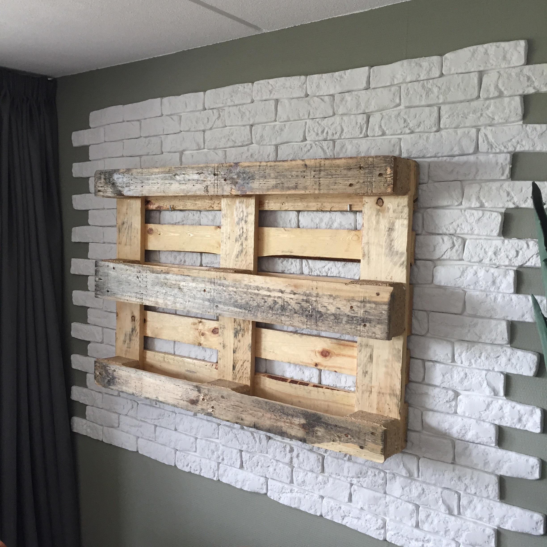 Wanddecoratie pallet for Zelf muurdecoratie maken
