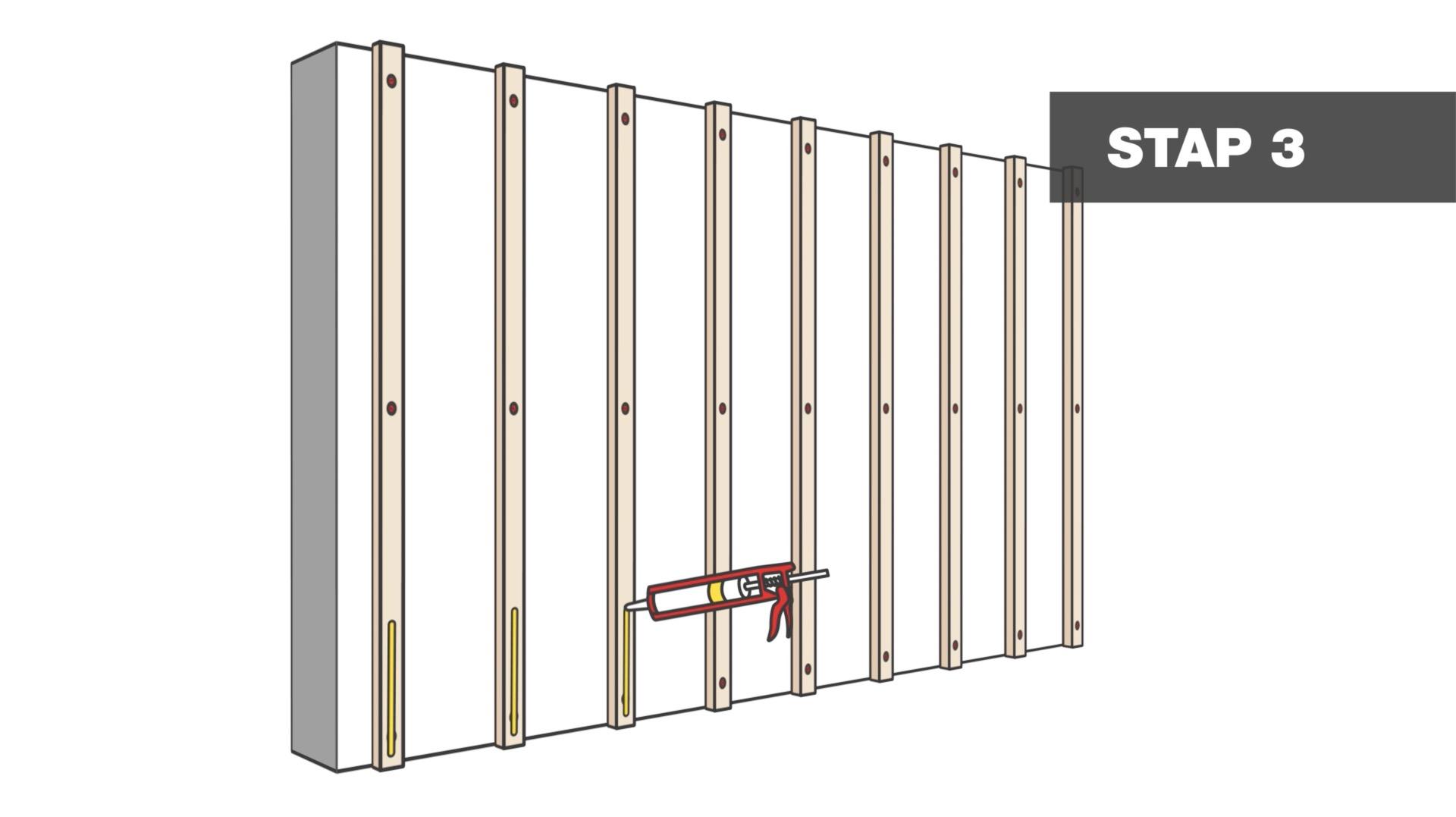 Super Hoe bevestig je laminaat op de muur? | voordemakers.nl #CZ76