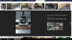 Waar kan ik het filmpje vinden om de buitenkeuken van tegels te maken?