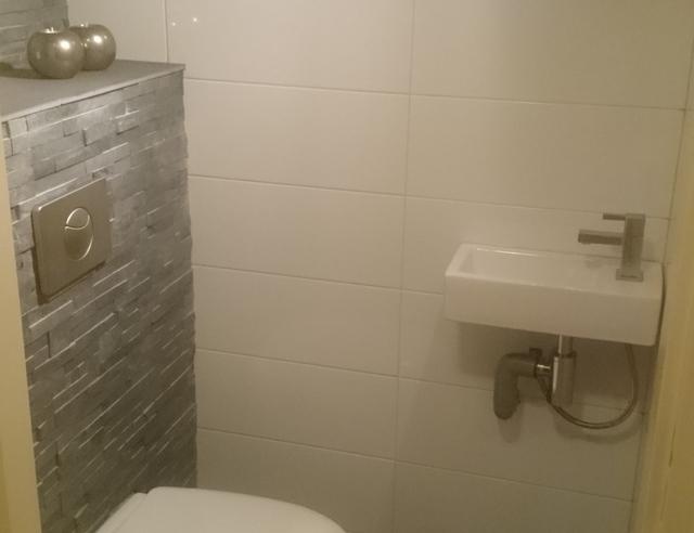 Frontplaat Hangend Toilet : Toilet vernieuwd: zwevend toilet gemaakt en opnieuw betegeld