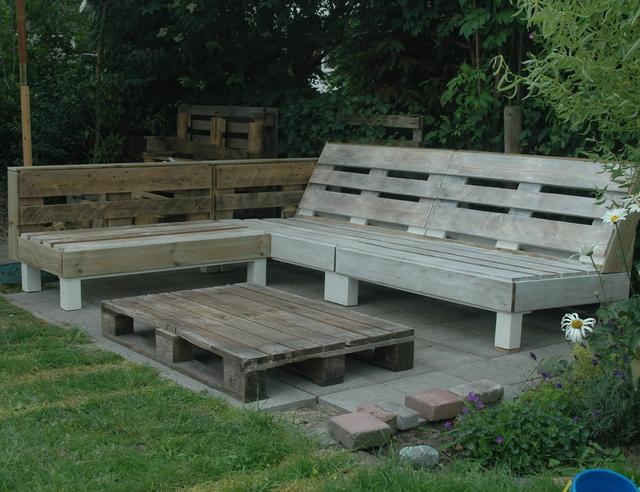 Beste Loungebank van pallets | voordemakers.nl JO-97