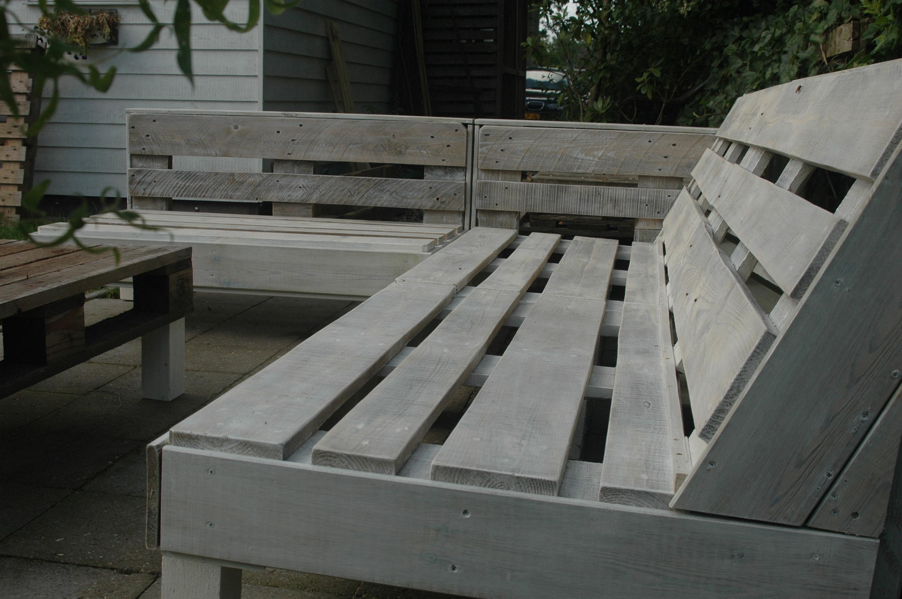 Voorkeur Loungebank van pallets | voordemakers.nl SW54