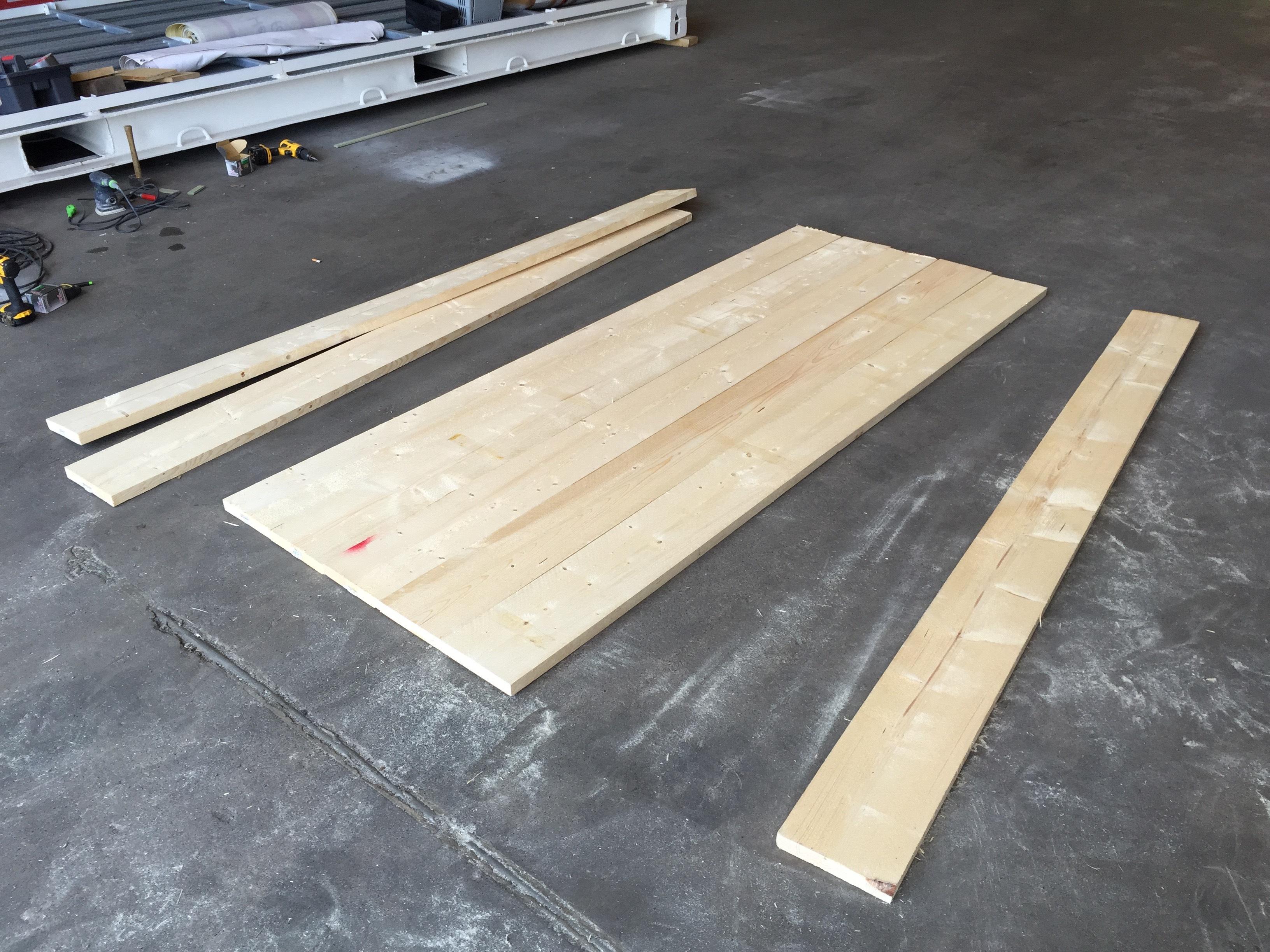 Steigerhout tafel basic voordemakers