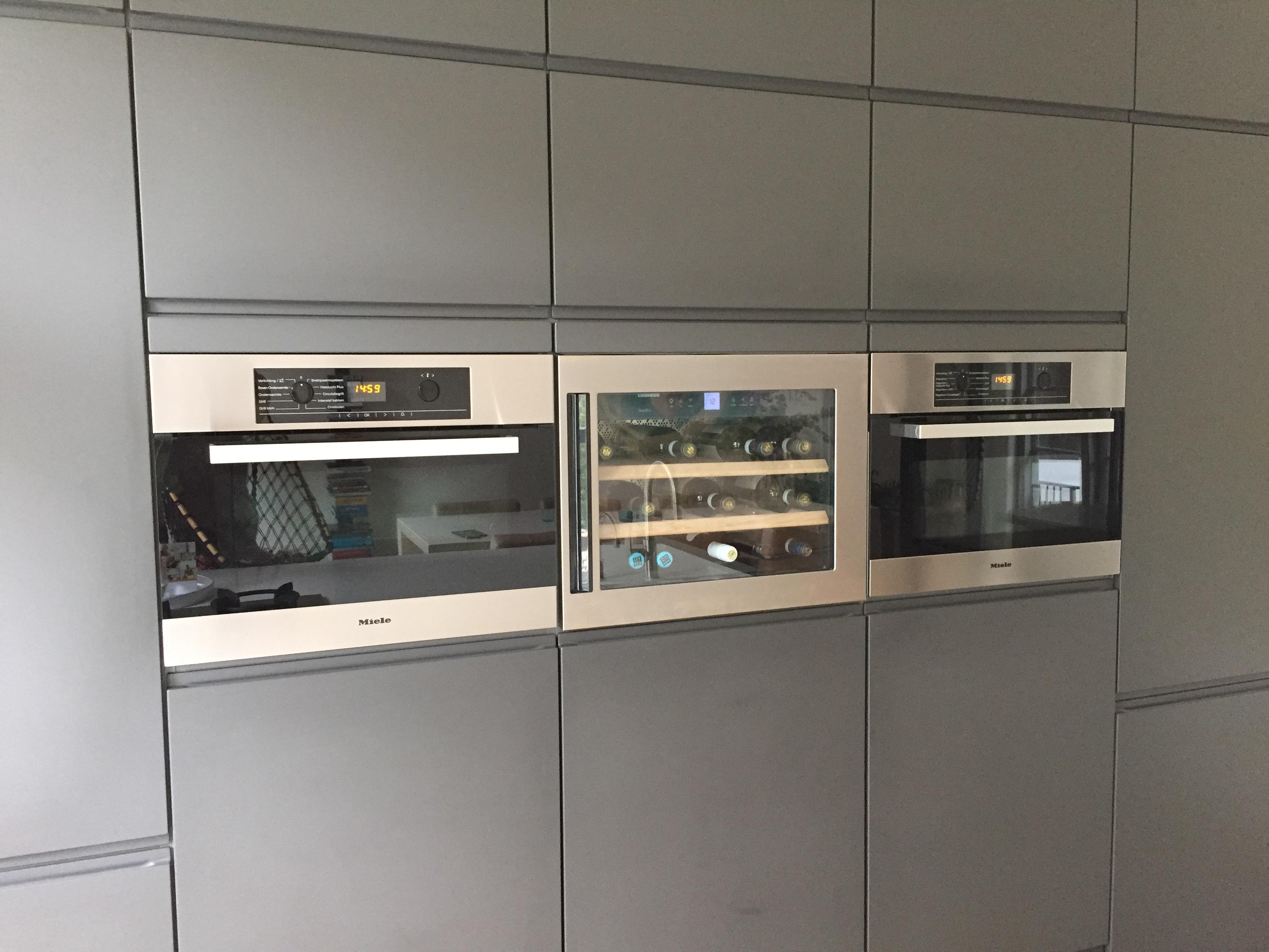 Wijn koelkast in keuken kasten wand tip voordemakers