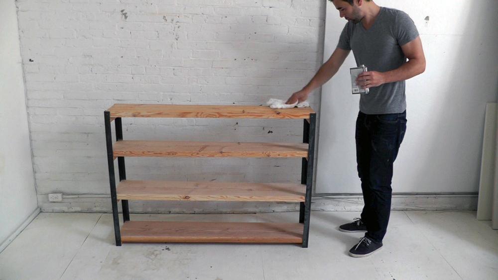 Kast Hout Staal : Tv meubel hout staal naar wens samen te stellen firma hout staal