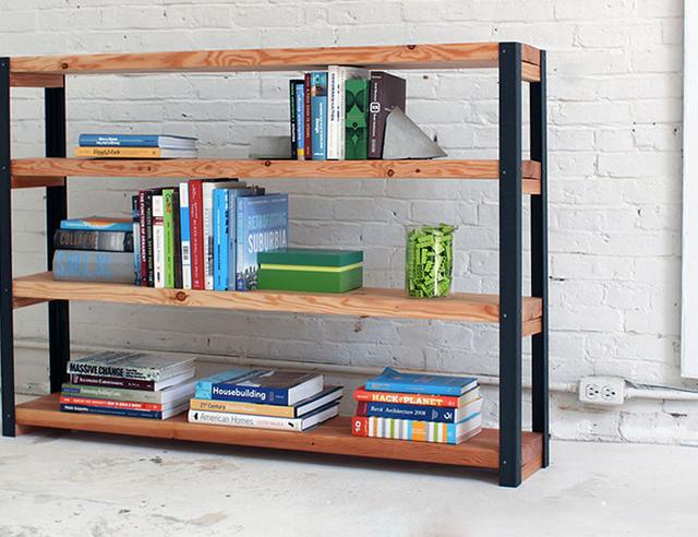 Industriele boekenkast maken voordemakers