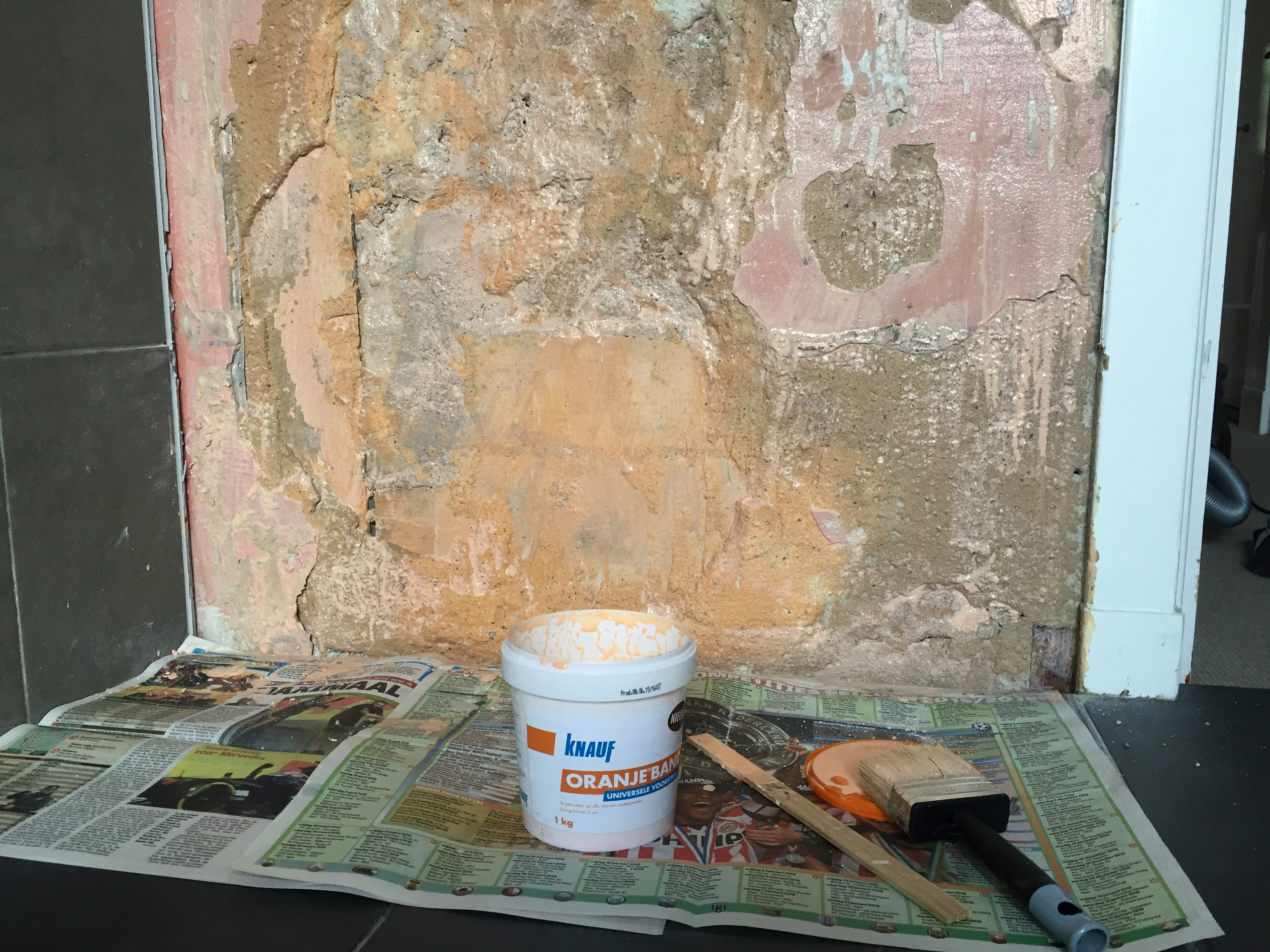 Stucwerk Badkamer Drogen : Tegel reparatie badkamer voordemakers
