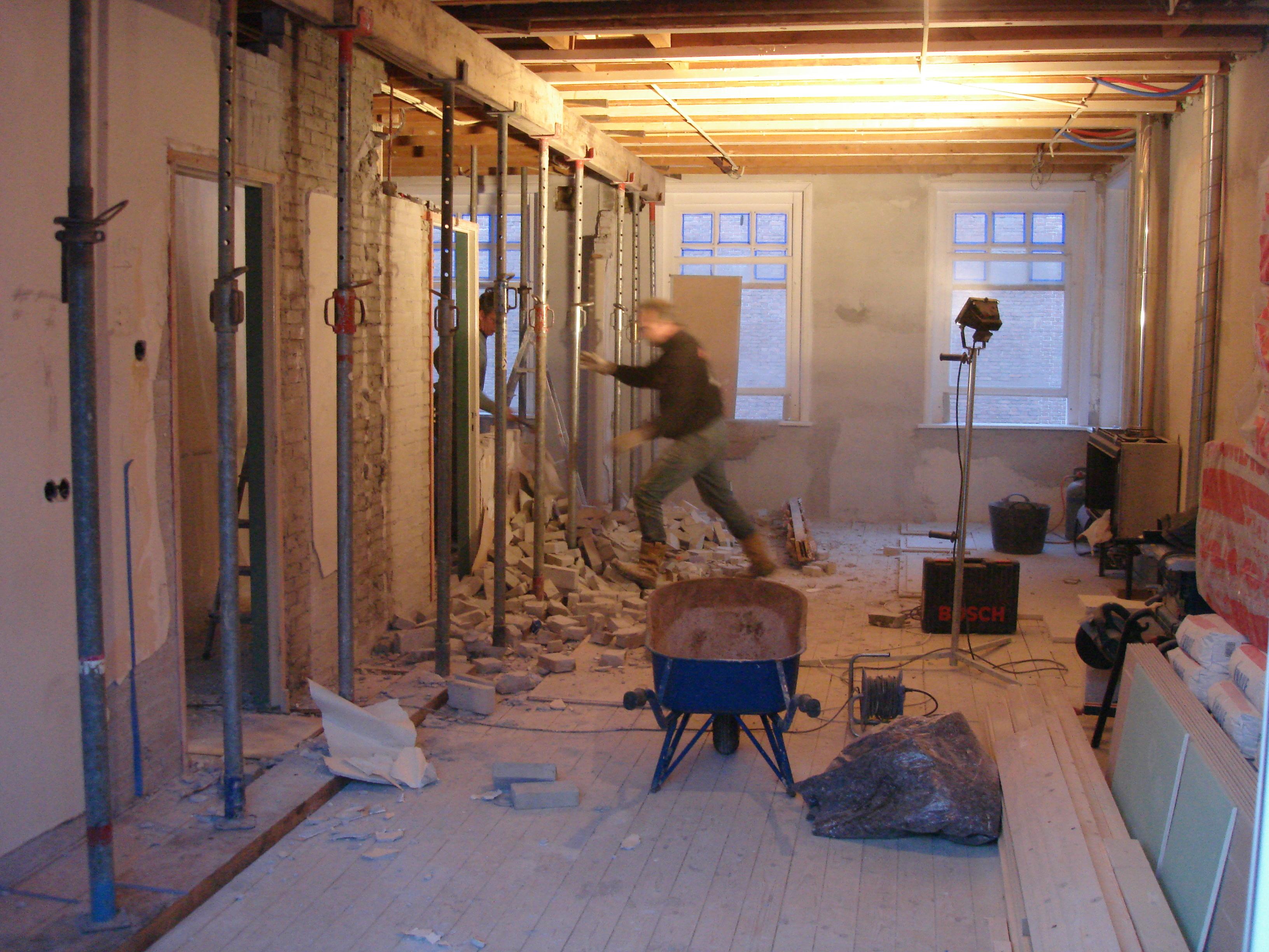 Steunmuur verwijderen - Deco kamer onder dekking ...