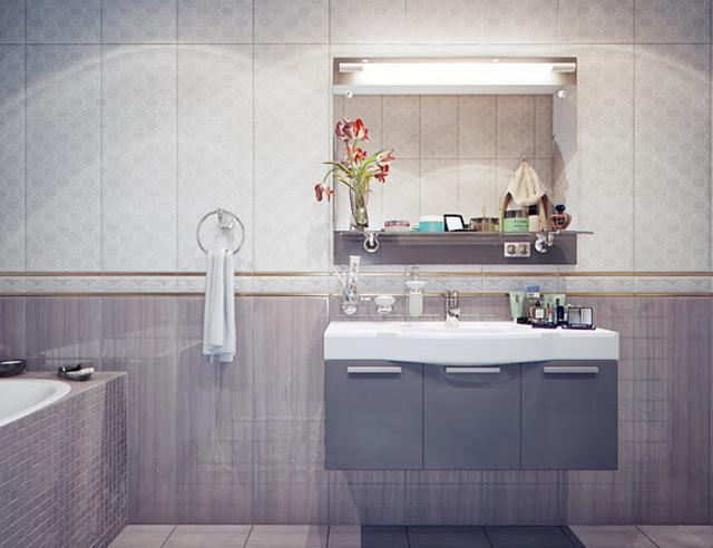 Moderne badkamer met strak design voordemakers.nl