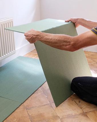 Een ondervloer leggen